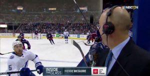 Un periodista de hockey sobre hielo vio la muerte de cerca