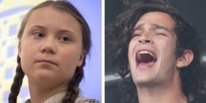 """""""Es la persona más punk que conocí"""": así habló Matt Healy de Greta Thunberg"""